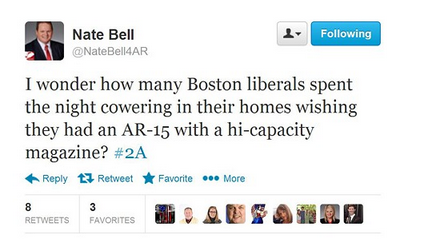Nate Bell Tweet About Boston Marathon Bombing